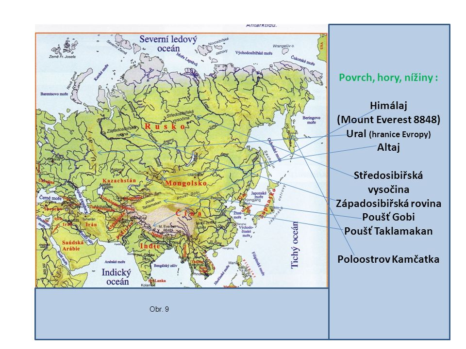 Středosibiřská vysočina Západosibiřská rovina