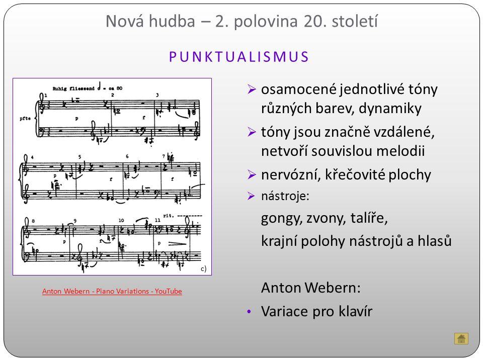 Nová hudba – 2. polovina 20. století