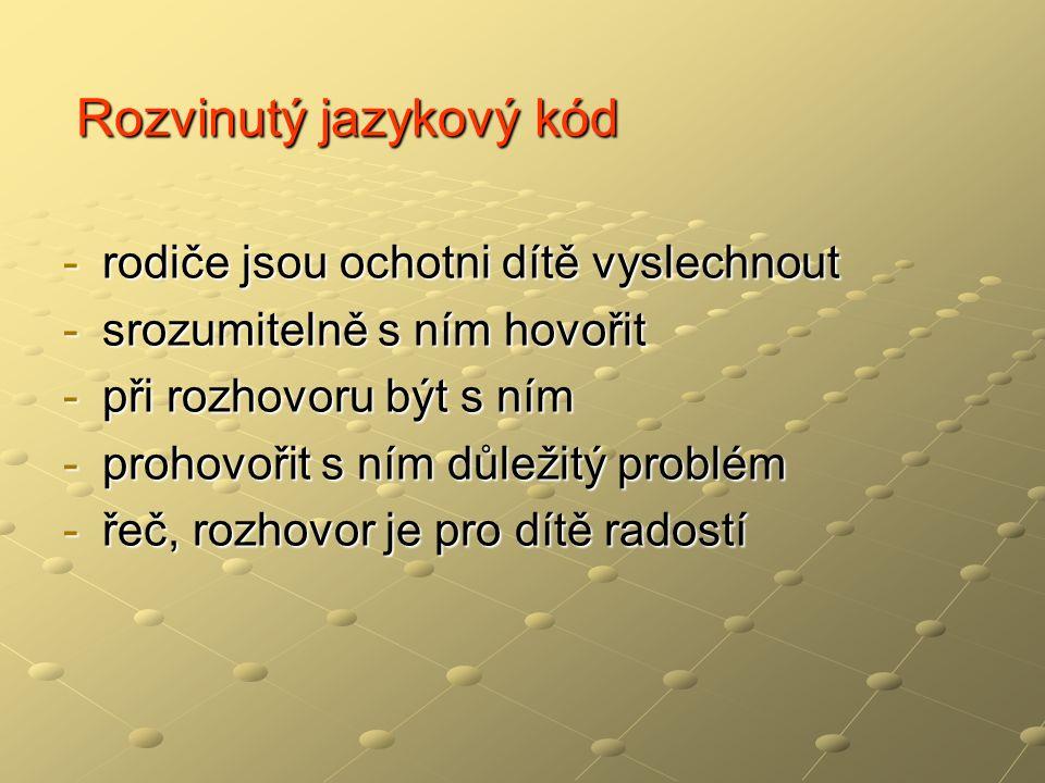 Rozvinutý jazykový kód