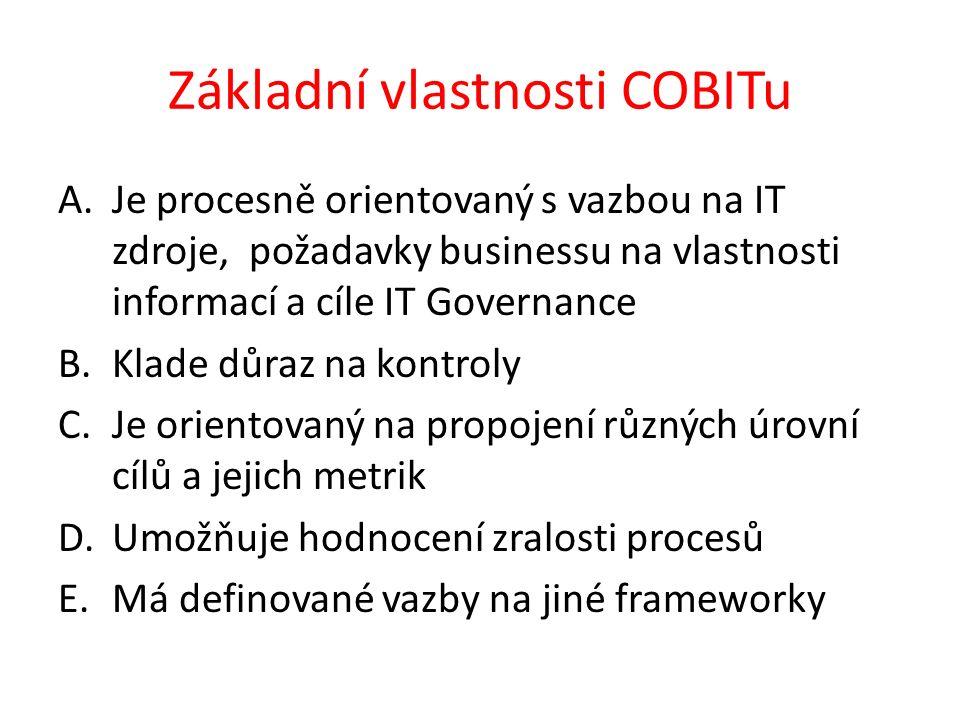 Základní vlastnosti COBITu