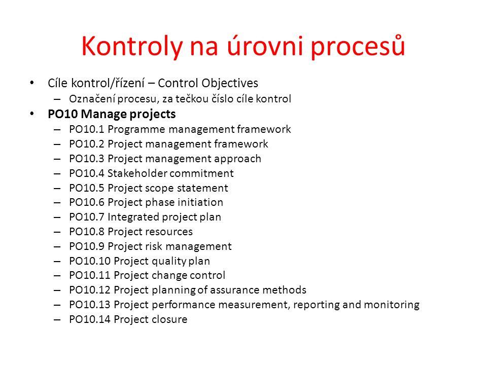 Kontroly na úrovni procesů