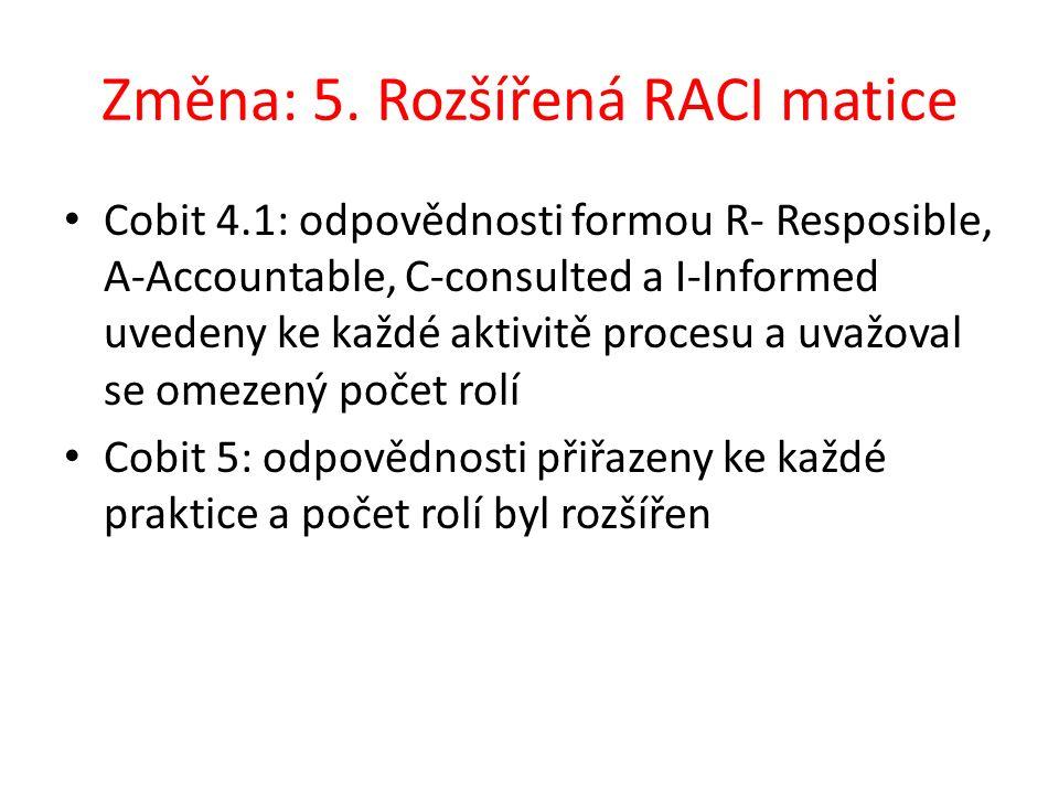 Změna: 5. Rozšířená RACI matice