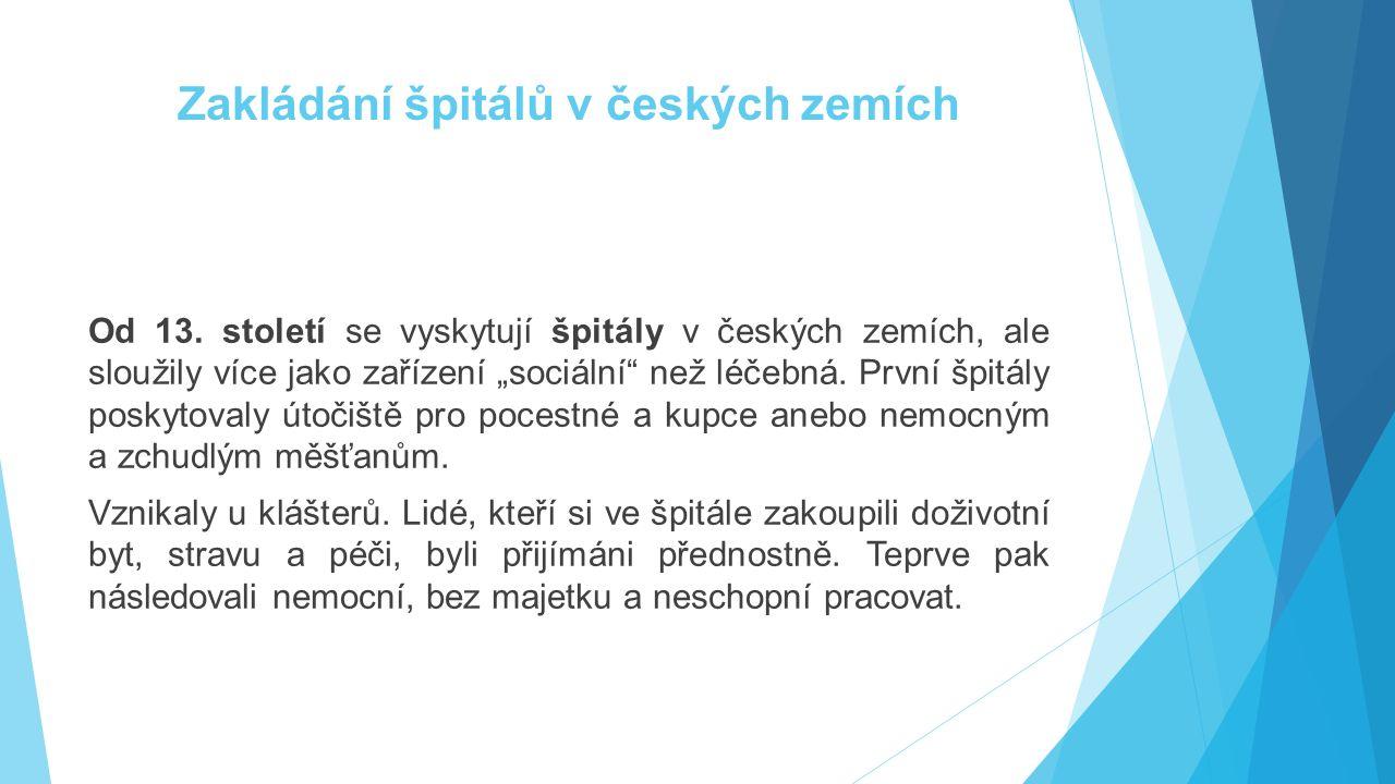 Zakládání špitálů v českých zemích