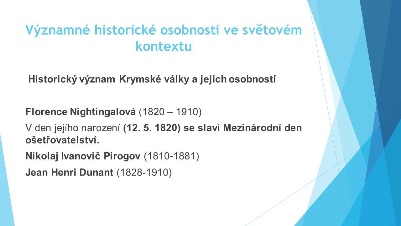 Významné historické osobnosti ve světovém kontextu
