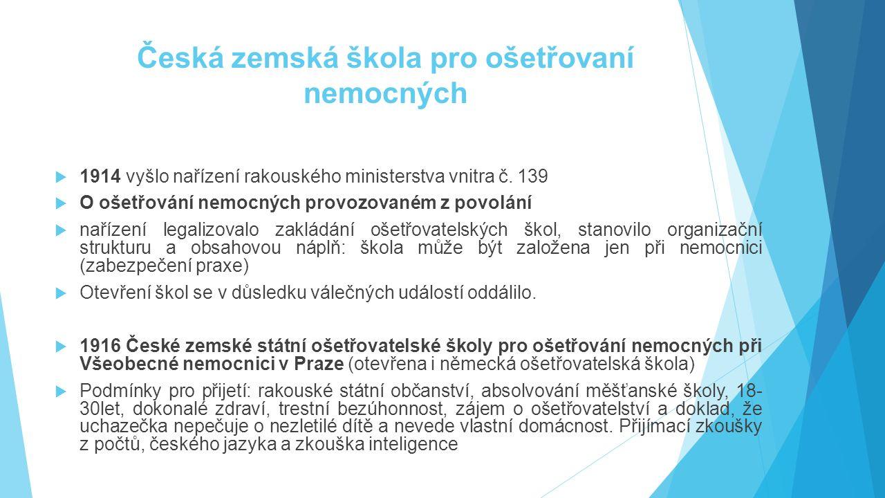 Česká zemská škola pro ošetřovaní nemocných