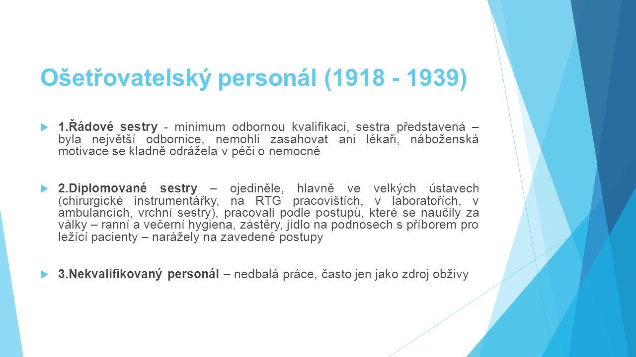 Ošetřovatelský personál (1918 - 1939)