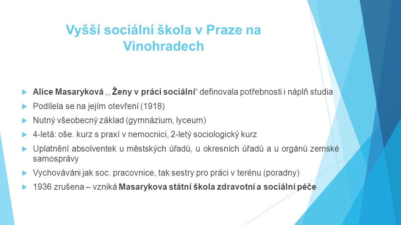Vyšší sociální škola v Praze na Vinohradech
