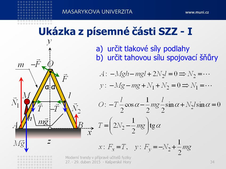 Ukázka z písemné části SZZ - I