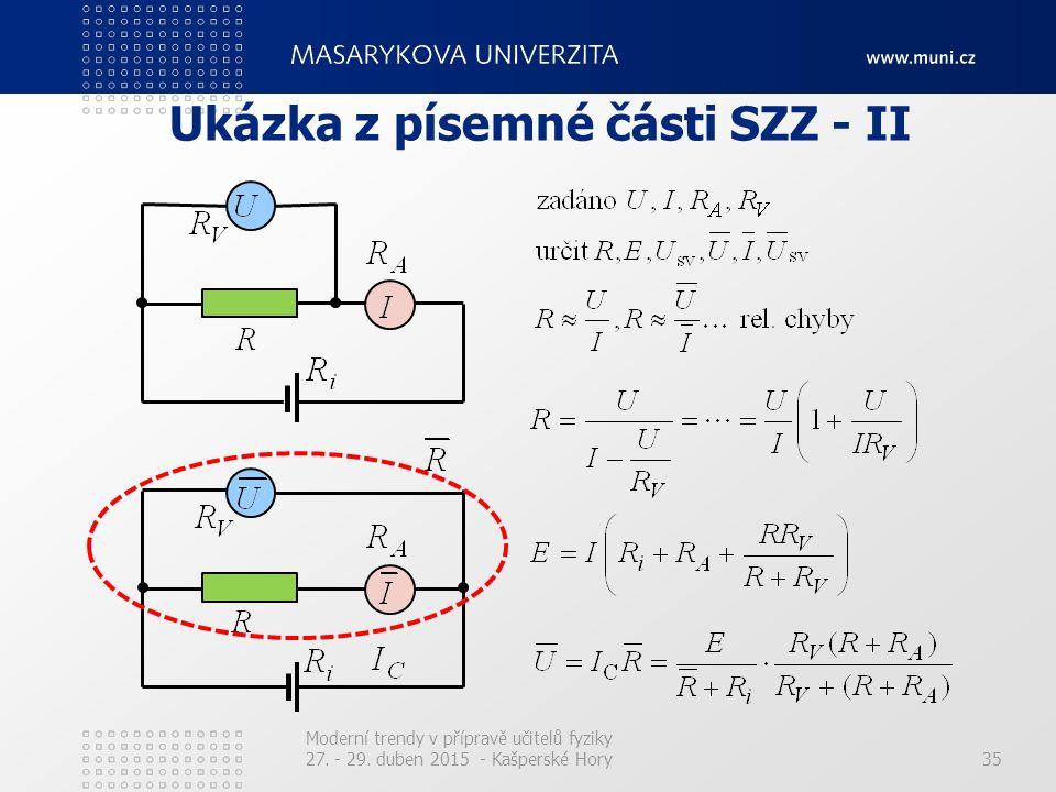 Ukázka z písemné části SZZ - II