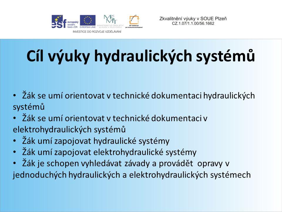 Cíl výuky hydraulických systémů