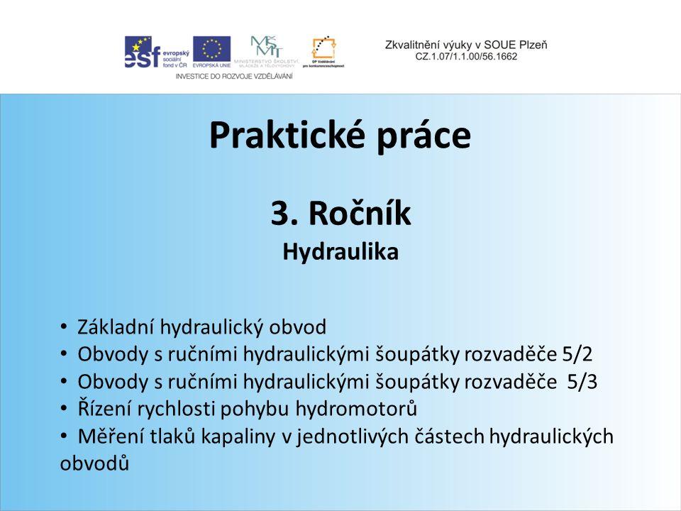 Praktické práce 3. Ročník Hydraulika Základní hydraulický obvod