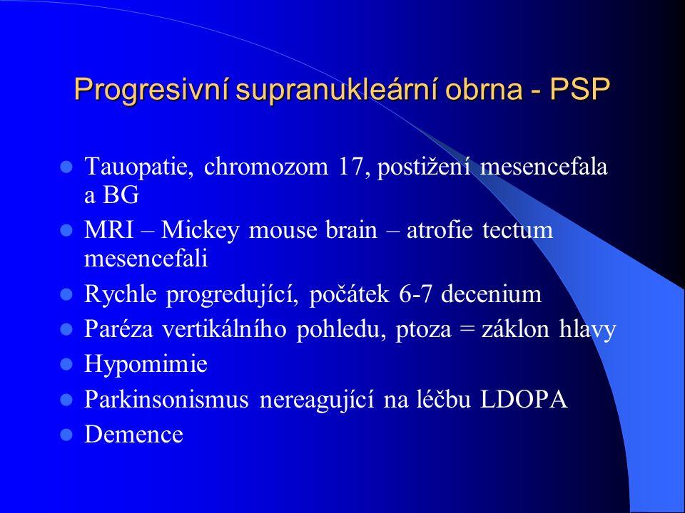 Progresivní supranukleární obrna - PSP