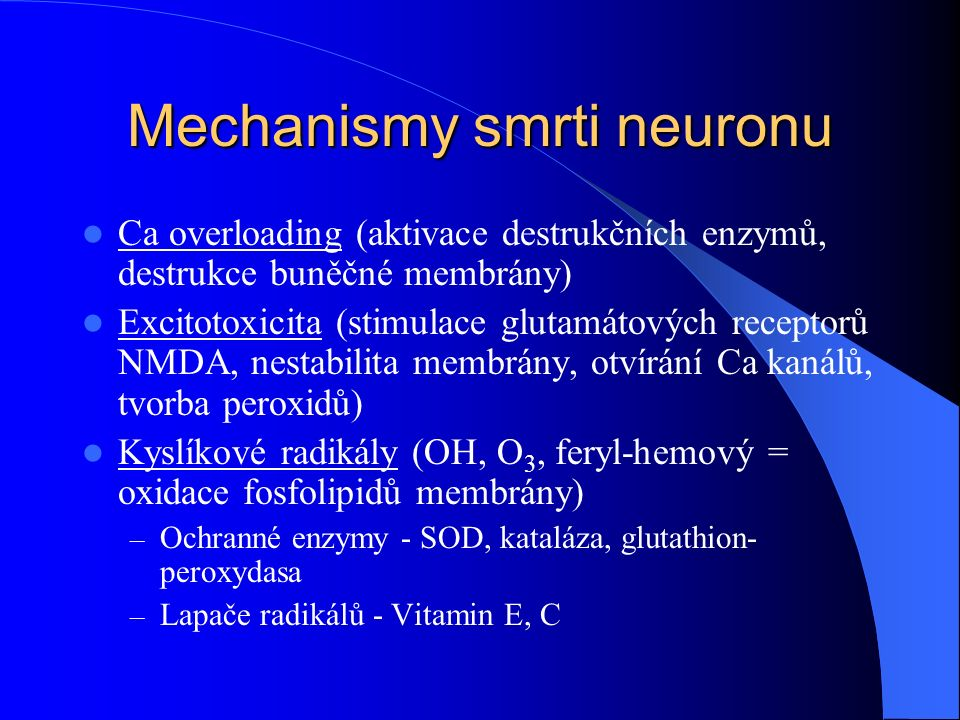 Mechanismy smrti neuronu