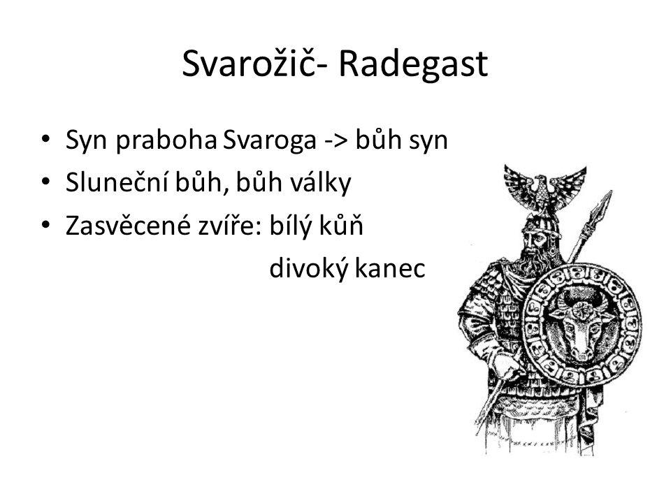 Svarožič- Radegast Syn praboha Svaroga -> bůh syn