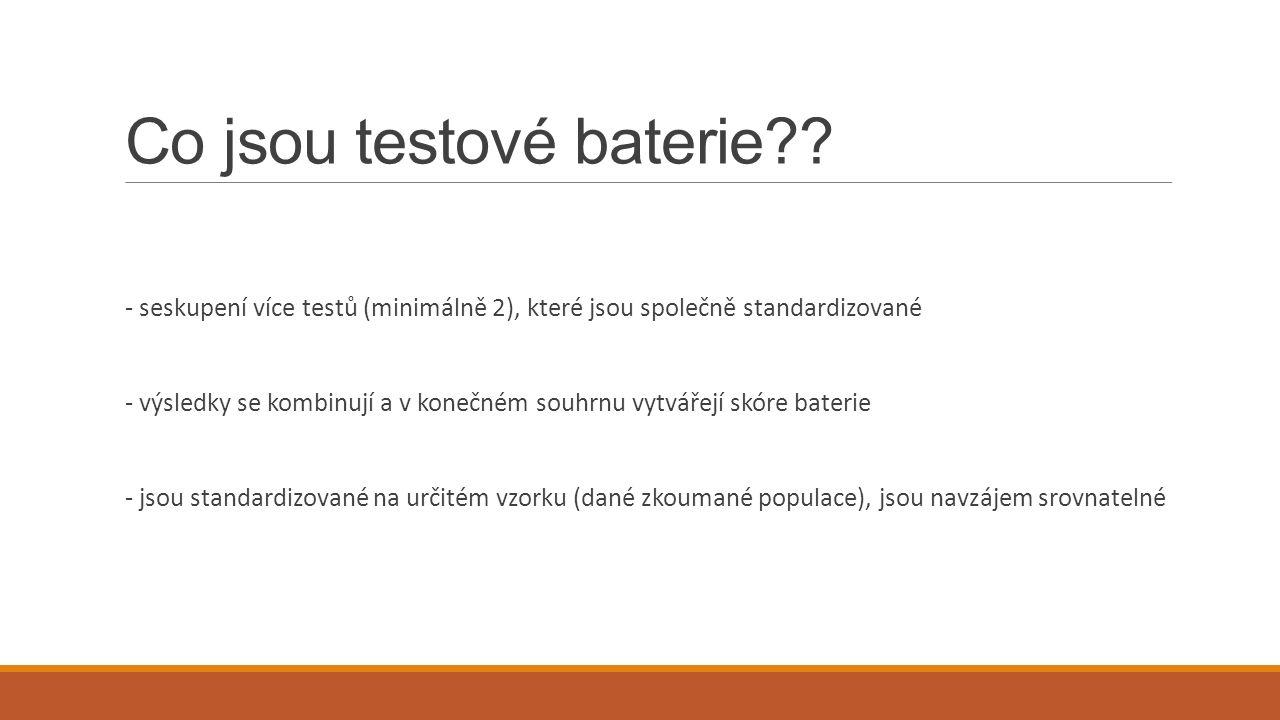 Co jsou testové baterie