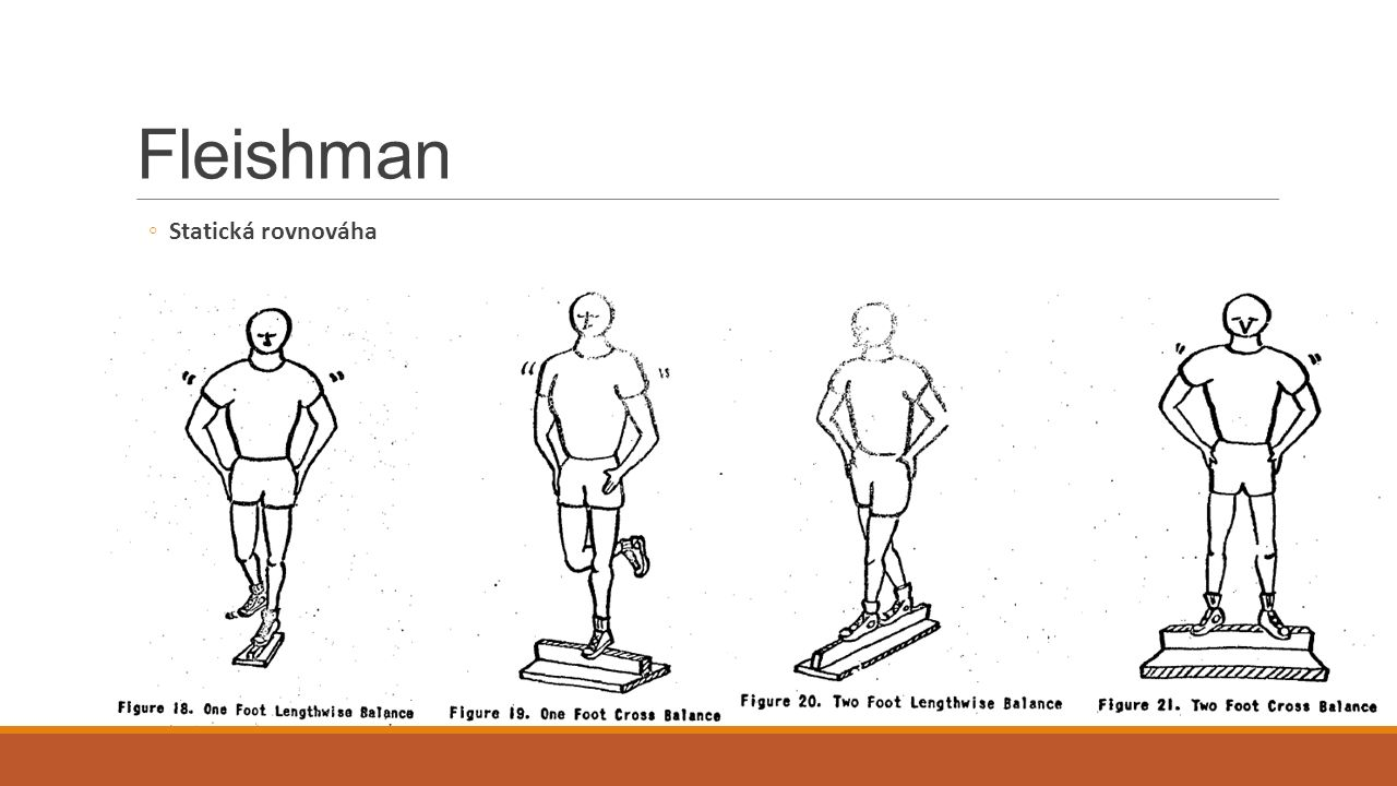 Fleishman Statická rovnováha