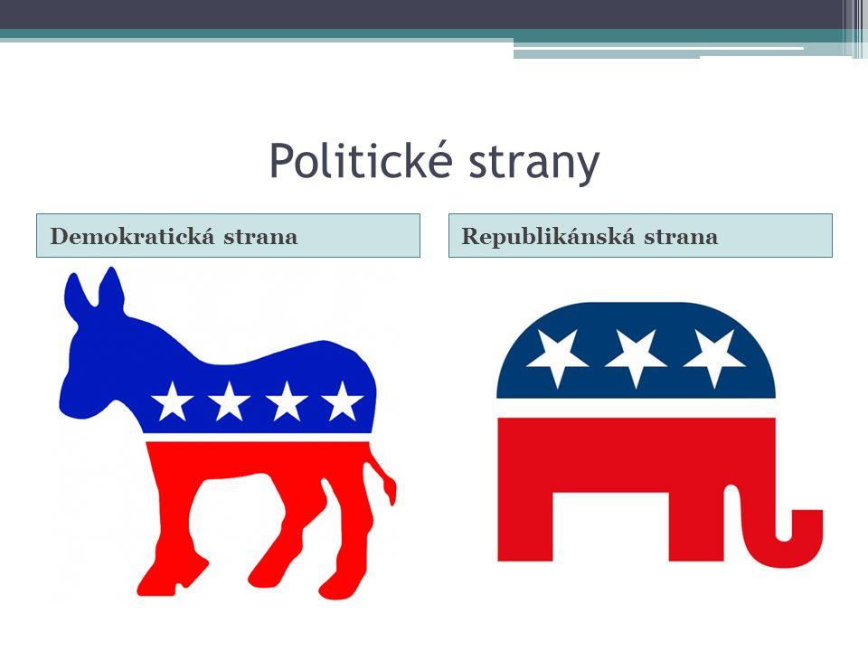 Politické strany Demokratická strana Republikánská strana