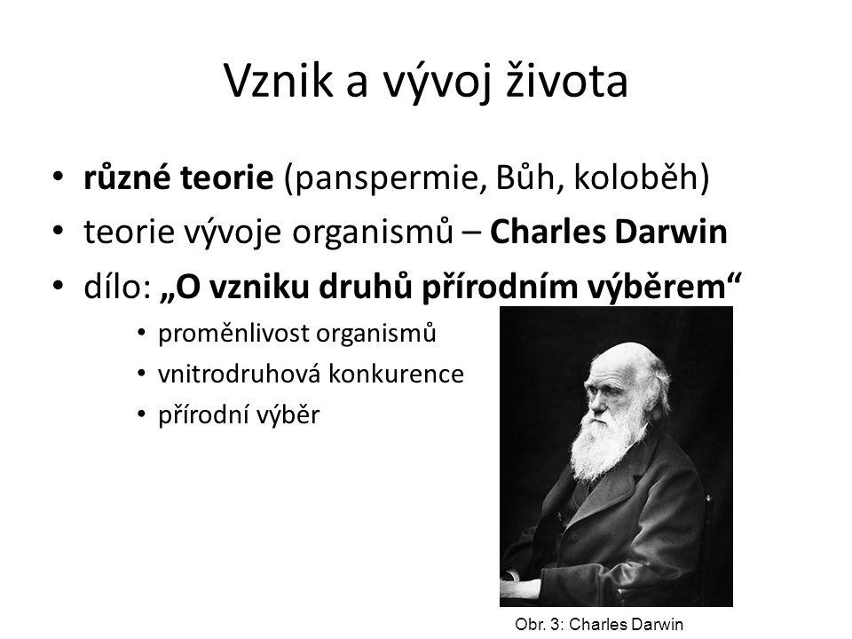 Vznik a vývoj života různé teorie (panspermie, Bůh, koloběh)