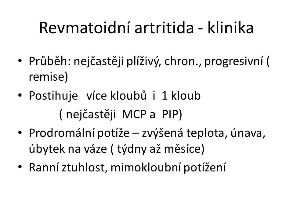 Revmatoidní artritida - klinika