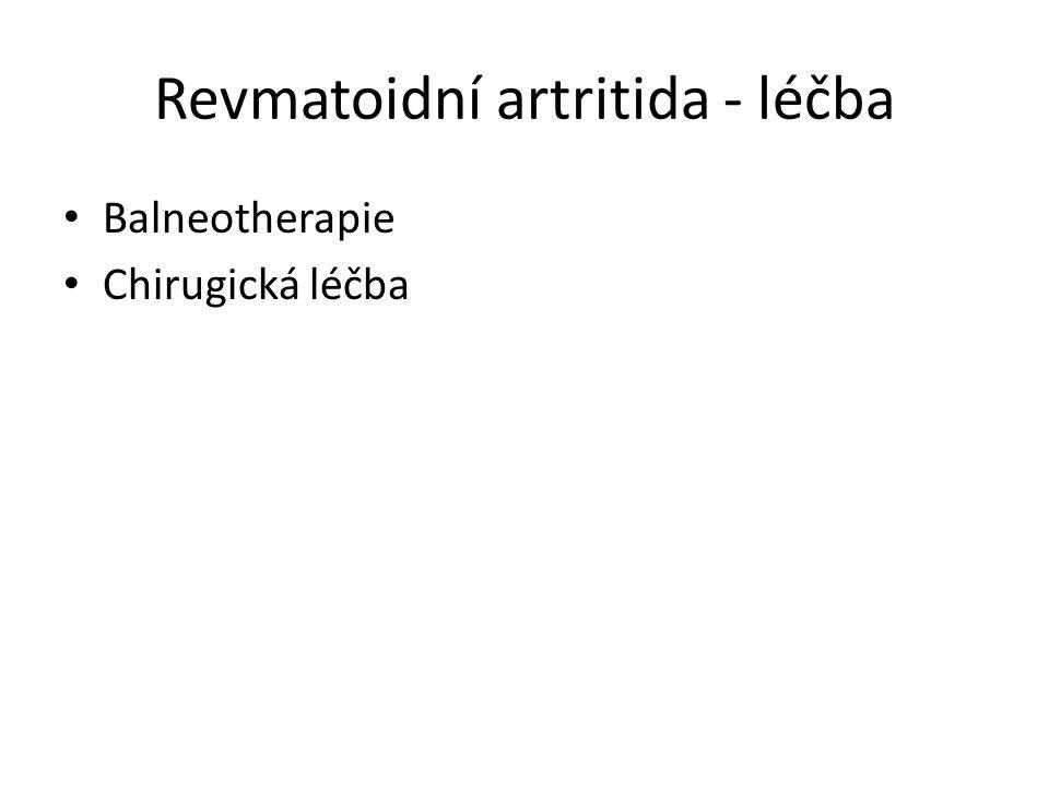 Revmatoidní artritida - léčba