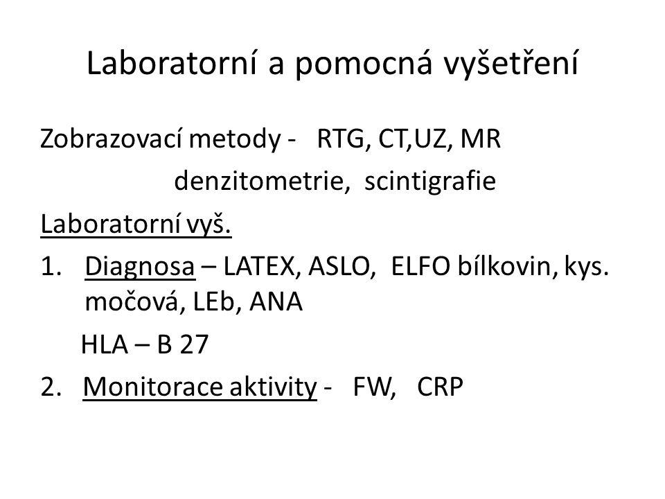 Laboratorní a pomocná vyšetření