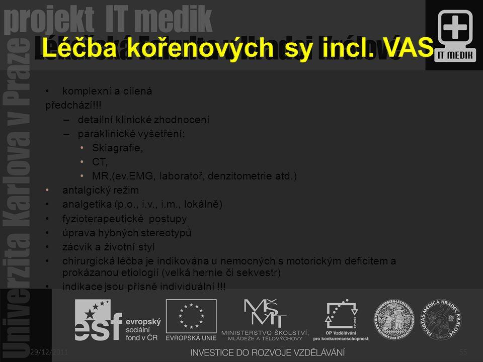 Léčba kořenových sy incl. VAS