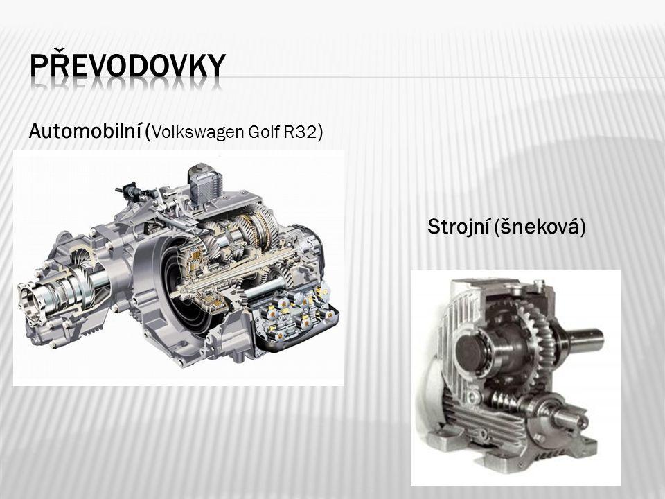převodovky Automobilní (Volkswagen Golf R32) Strojní (šneková)