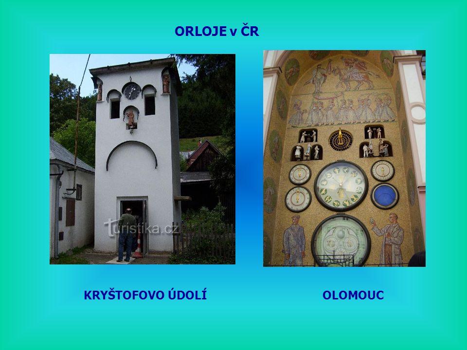 ORLOJE v ČR KRYŠTOFOVO ÚDOLÍ OLOMOUC