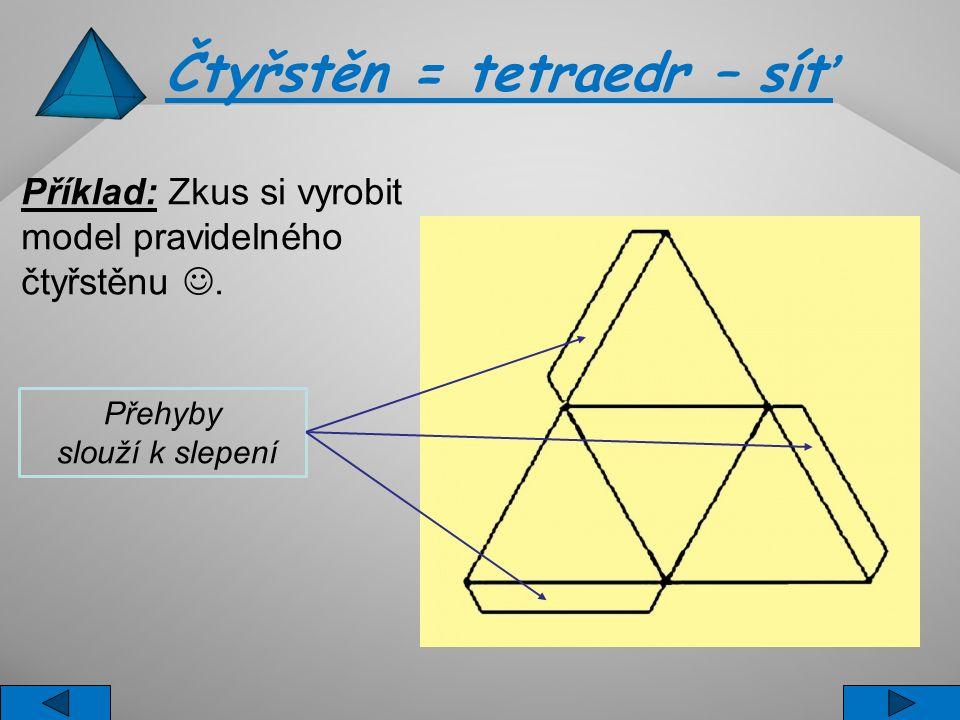 Čtyřstěn = tetraedr – síť