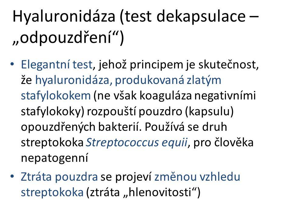 """Hyaluronidáza (test dekapsulace – """"odpouzdření )"""