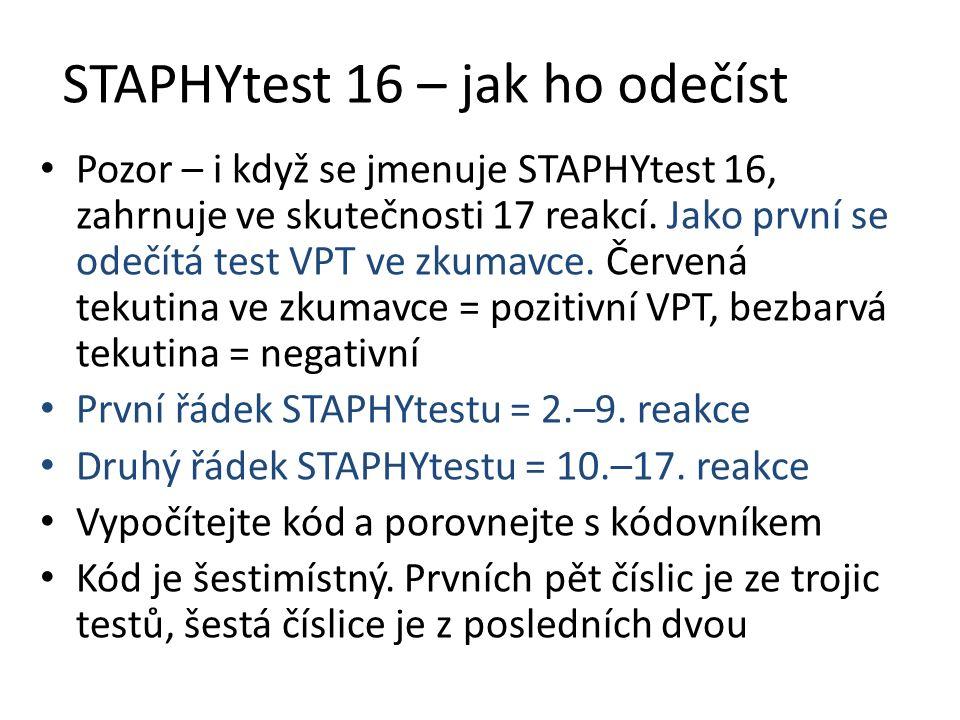 STAPHYtest 16 – jak ho odečíst