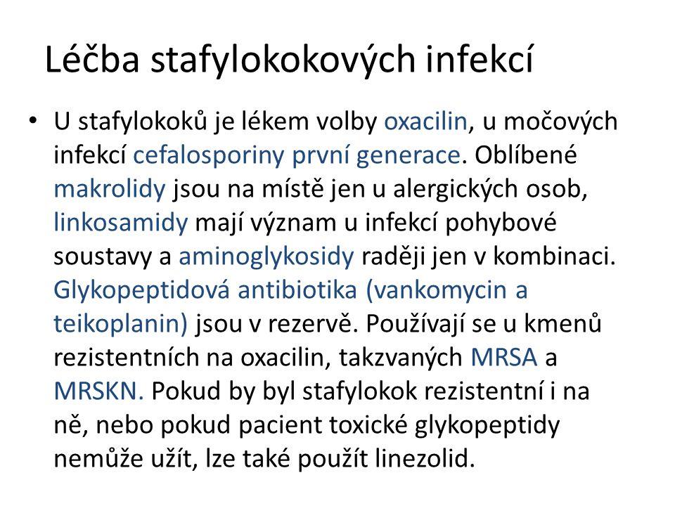 Léčba stafylokokových infekcí