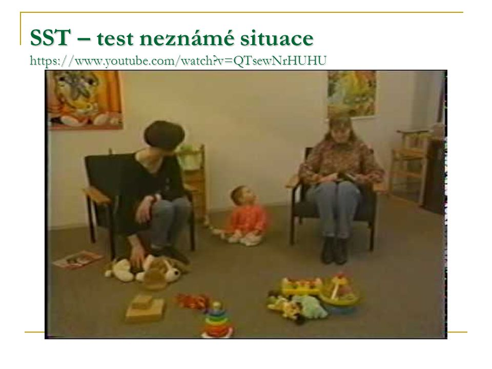 SST – test neznámé situace https://www.youtube.com/watch v=QTsewNrHUHU