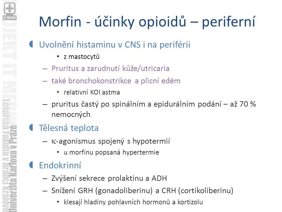 Morfin - účinky opioidů – periferní