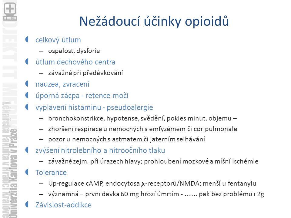 Nežádoucí účinky opioidů
