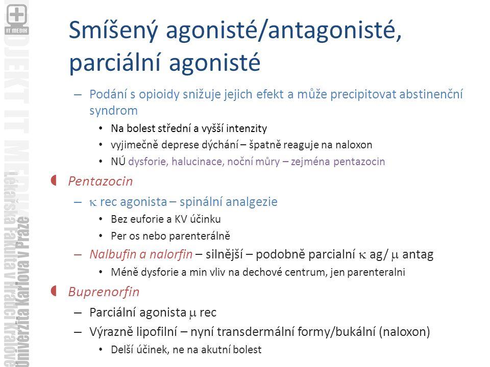 Smíšený agonisté/antagonisté, parciální agonisté