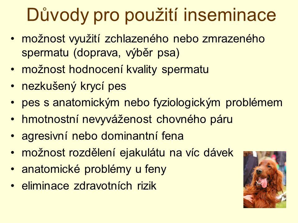 Důvody pro použití inseminace