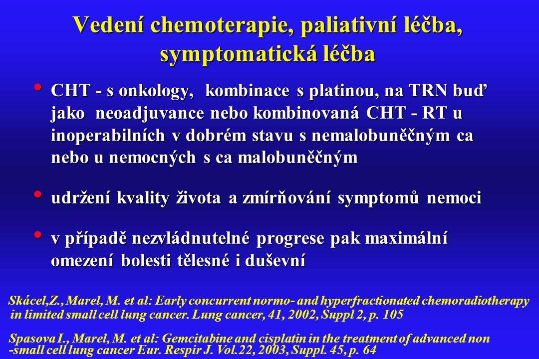 Vedení chemoterapie, paliativní léčba, symptomatická léčba