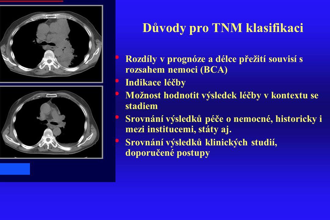 Důvody pro TNM klasifikaci