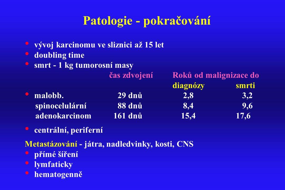 Patologie - pokračování