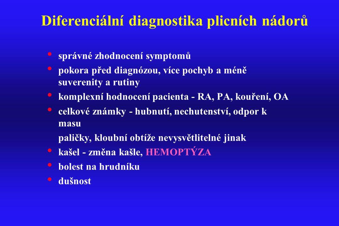 Diferenciální diagnostika plicních nádorů