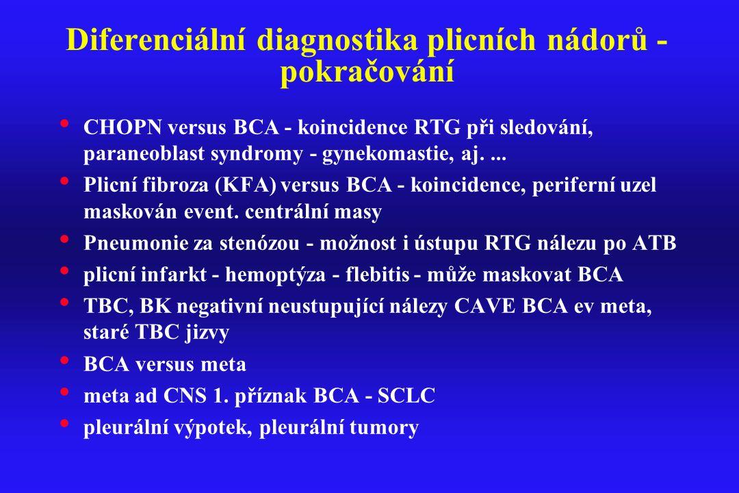 Diferenciální diagnostika plicních nádorů - pokračování