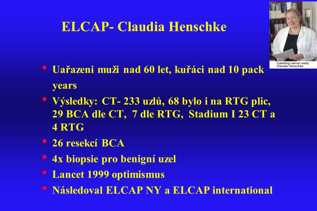 ELCAP- Claudia Henschke