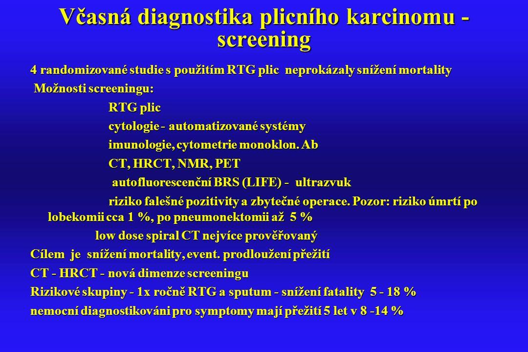 Včasná diagnostika plicního karcinomu - screening