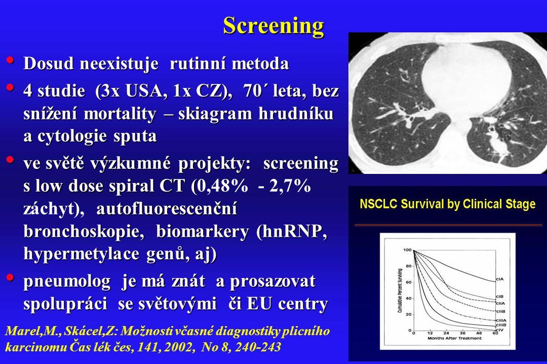 Screening Dosud neexistuje rutinní metoda