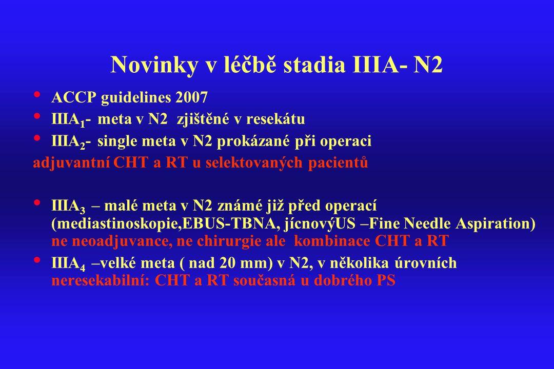Novinky v léčbě stadia IIIA- N2