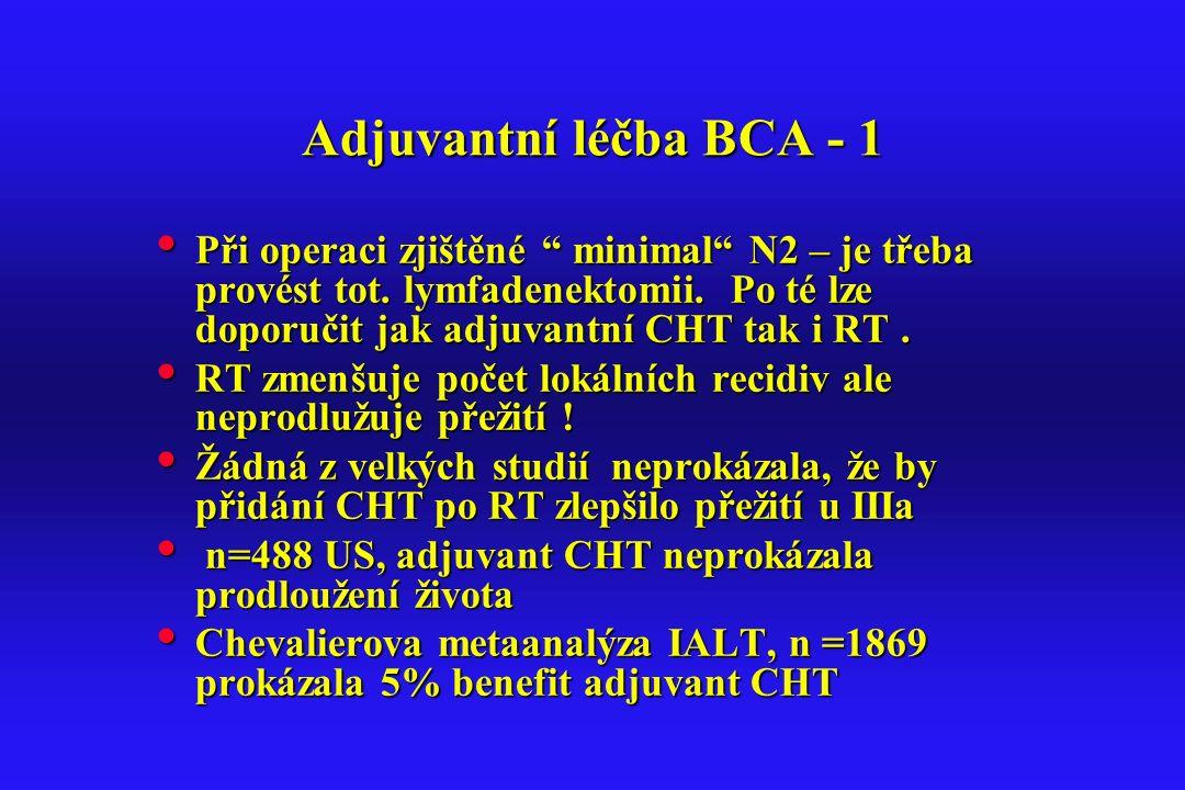 Adjuvantní léčba BCA - 1
