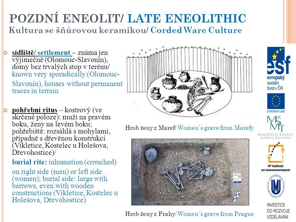 POZDNÍ ENEOLIT/ LATE ENEOLITHIC Kultura se šňůrovou keramikou/ Corded Ware Culture
