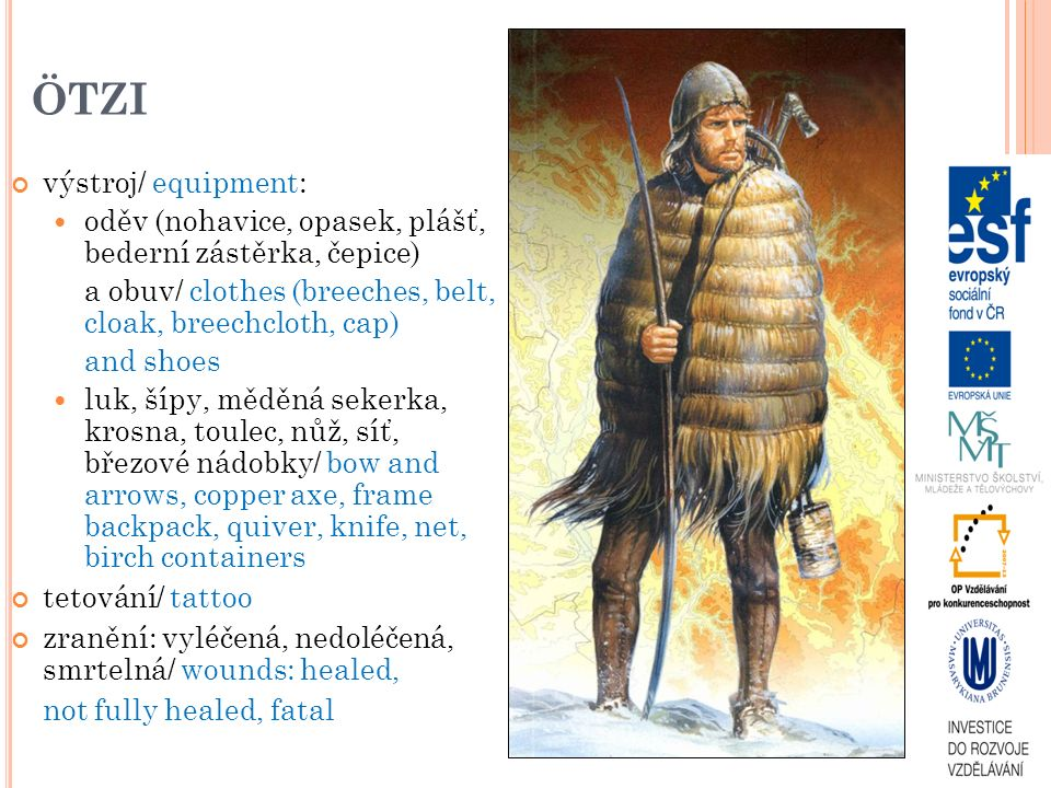 ÖTZI výstroj/ equipment: