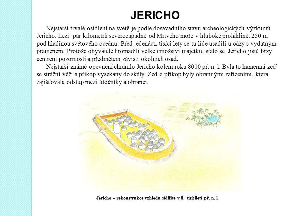 Jericho – rekonstrukce vzhledu sídliště v 8. tisíciletí př. n. l.